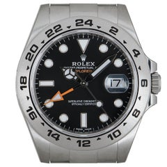 Rolex Unworn Explorer II Gents Stainless Steel Black Dial B&P 216570