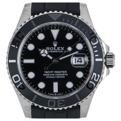 Rolex Unworn Yacht-Master 42 Gents 18 Karat White Gold Black Dial B&P 226659