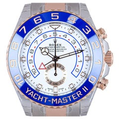 Rolex Unworn Yacht-Master II Stainless Steel and 18 Karat Gold White Dial 116681