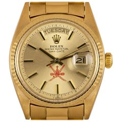 Rolex Very Rare Day-Date Vintage Gents 18k Yellow Gold Champagne Omani Dial 1803