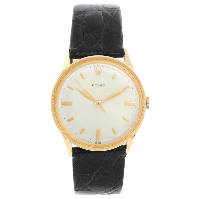 Rolex Vintage 14 Karat Yellow Gold Men's Watch For Sale