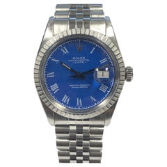 Rolex Vintage 16030 Steel Datejust Watch with Buckley Style Dial Box Papers