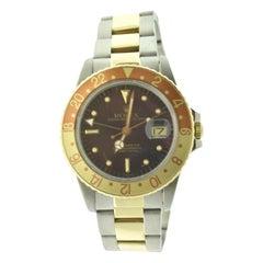 Rolex Vintage 1979 GMT-Master Ref.16753 Root Beer 'Nipple' Dial Watch