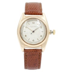 Rolex Vintage Bubble Back 14 Karat Rose Gold Automatic Unisex Watch 3131