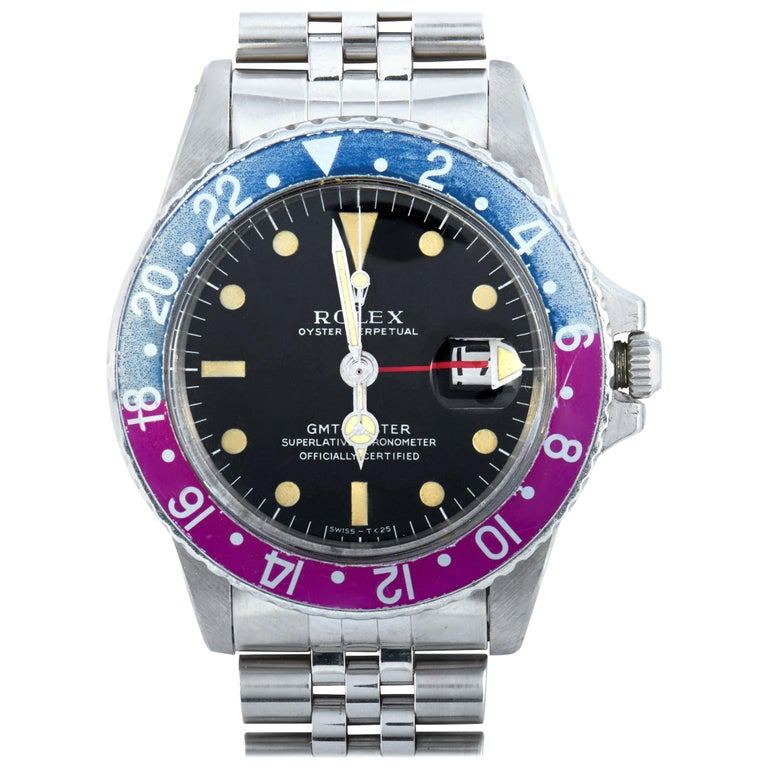 Rolex Vintage GMT-Master Watch 1675 For Sale