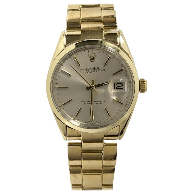 Rolex Vintage Gold Shell Date Model Automatic on Gold Shell Oyster Bracelet