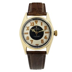 Rolex Vintage Gold Shell Ref 6334 Automatic Wrist Watch