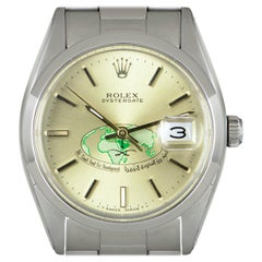 Rolex Vintage Oyster Date Stainless Steel Champagne Saudi Dial 6694 Watch