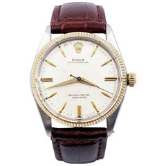 Rolex Vintage Oyster Perpetual 6567 Original Natural Patina Stainless 14K Gold