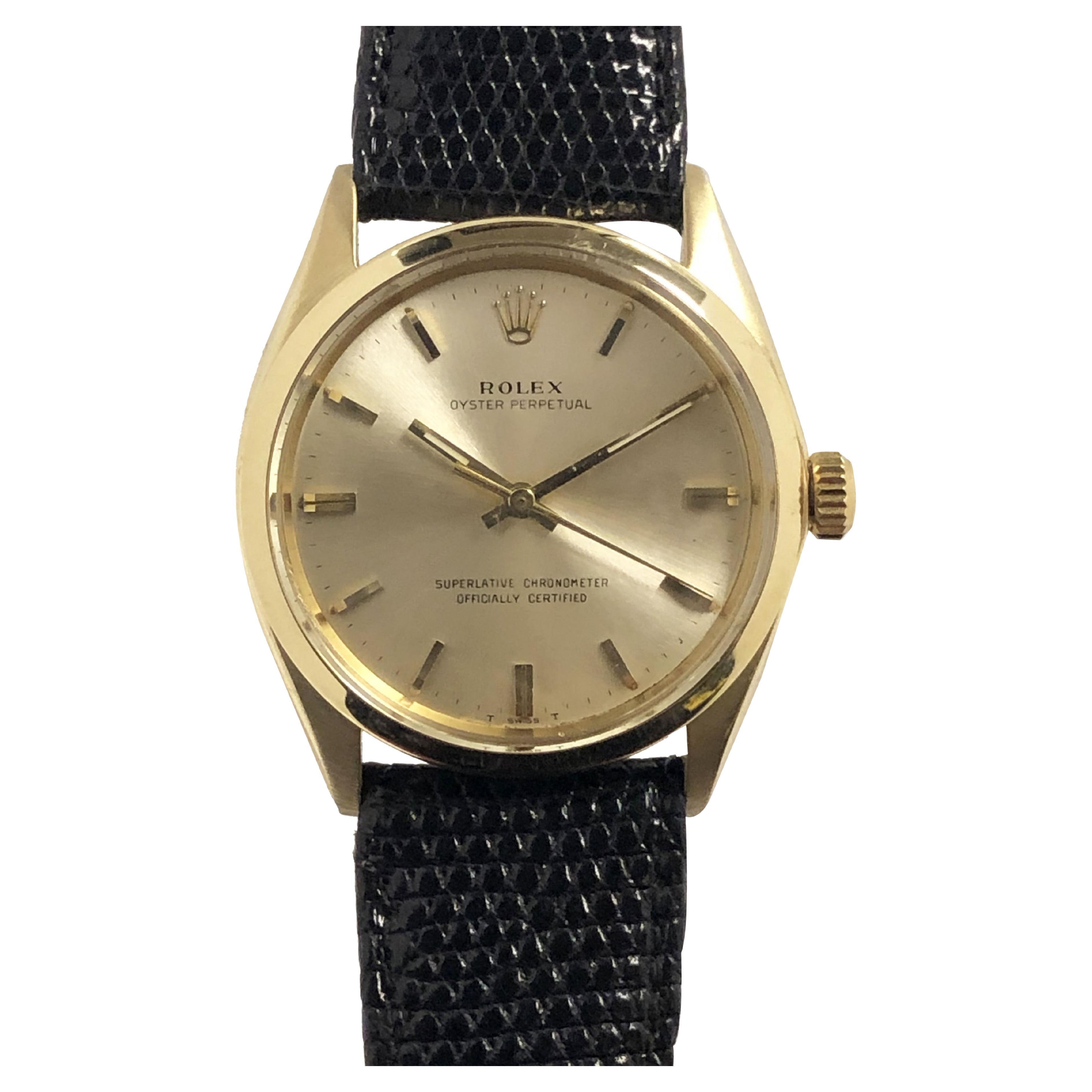 Rolex Vintage Ref 1002 Yellow Gold Automatic Gents Wrist Watch