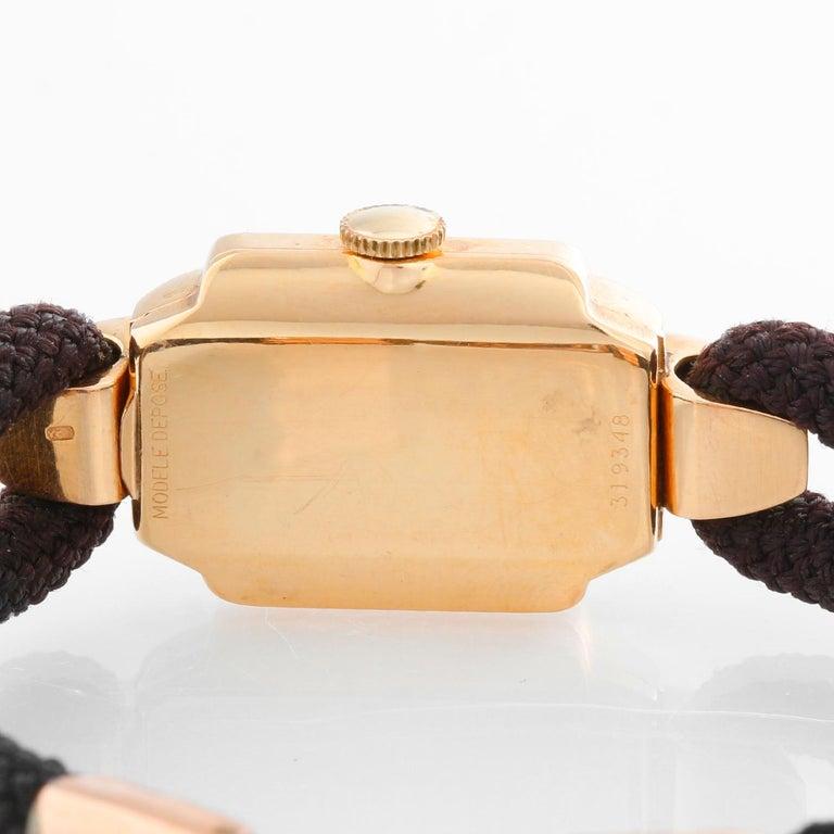 Women's Rolex Vintage Rose Gold Ladies Dress Watch For Sale