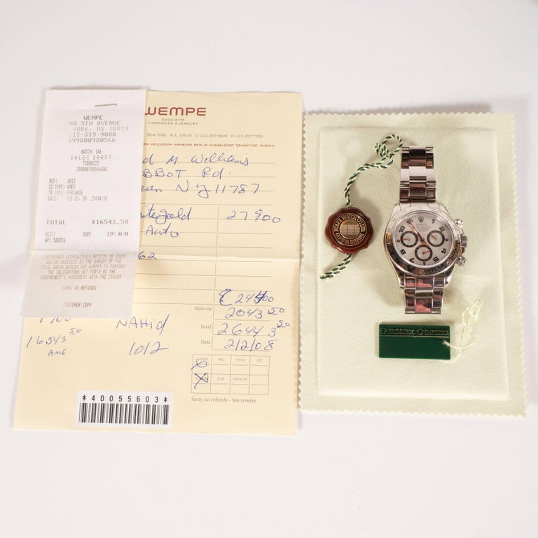 Rolex White Gold Cosmograph Daytona Wristwatch Ref 116509  For Sale 6