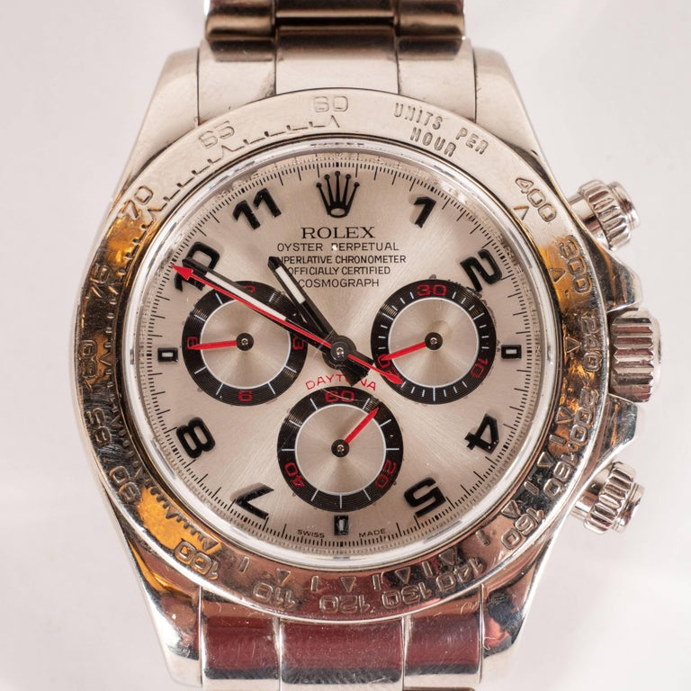 This handsome and iconic Rolex Cosmograph Daytona (Serial: Z506506) was hand assembled in Geneva, Switzerland by Rolex- arguably the most recognized and illustrious names in the history of watchmaking- in 1993. Designed for those who appreciate the