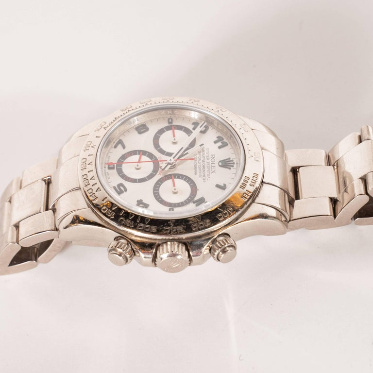 Rolex White Gold Cosmograph Daytona Wristwatch Ref 116509  In Excellent Condition For Sale In New York, NY