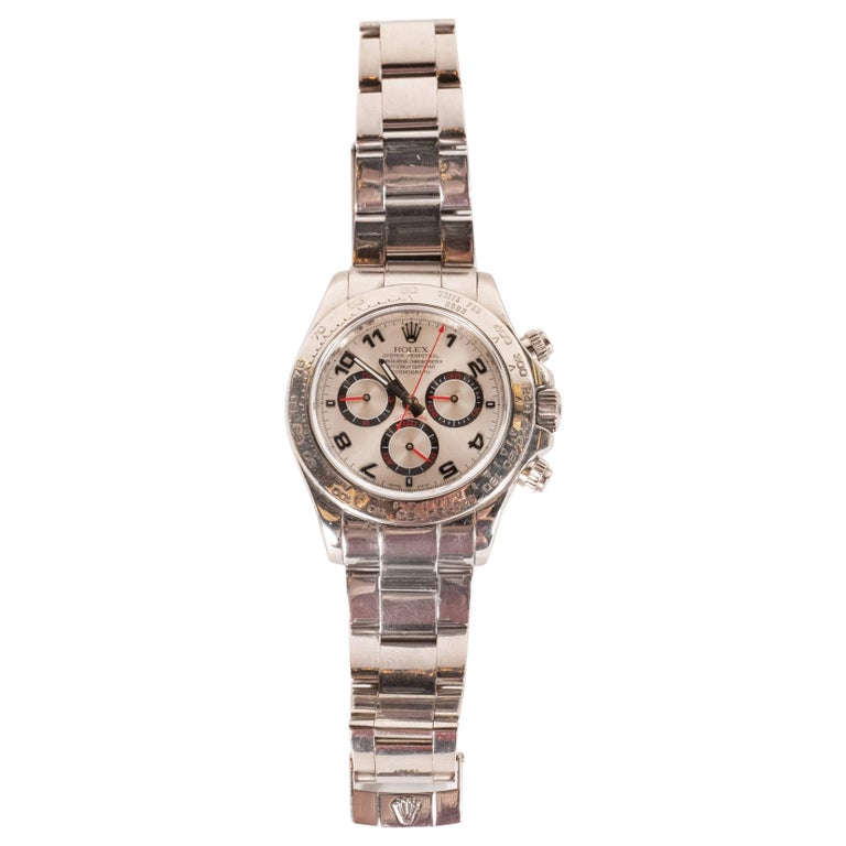 Men's Rolex White Gold Cosmograph Daytona Wristwatch Ref 116509  For Sale