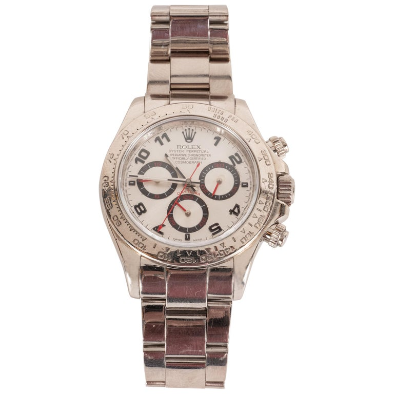 Rolex White Gold Cosmograph Daytona Wristwatch Ref 116509  For Sale