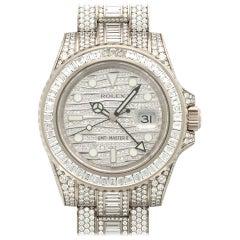 """Rolex White Gold Diamond GMT-Master II """"ICE"""" Wristwatch Ref 116769"""