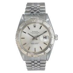 Rolex White Gold Stainless Steel Thunderbird Bezel Watch, Mid 1960's