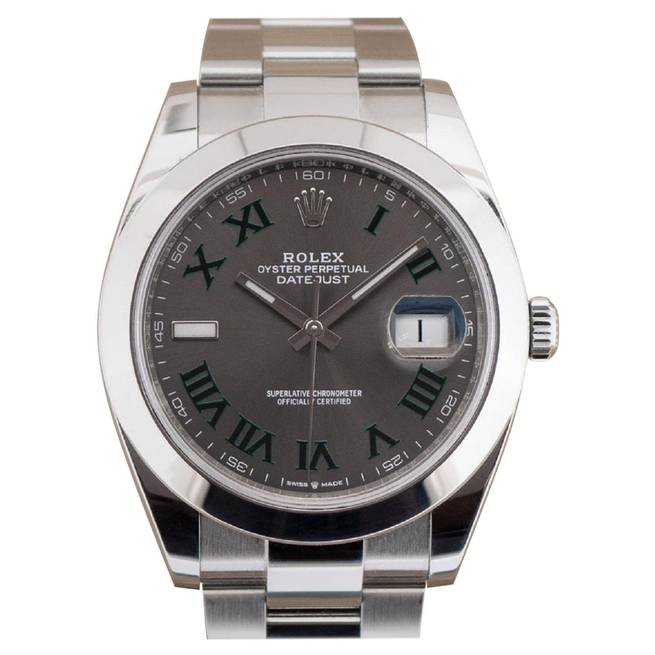 Rolex Wimbledon Datejust Oyster Bracelet Model 126300