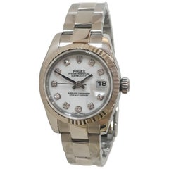 Rolex Women's Datejust Stainless Steel Diamond Dial Watch