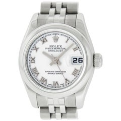 Rolex Women's Datejust Watch 179160 Stainless Steel White Roman Dial, Box/Paper