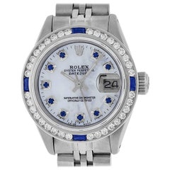 Rolex Women's Datejust Watch Steel / 18 Karat White Gold Salmon Diamond Dial
