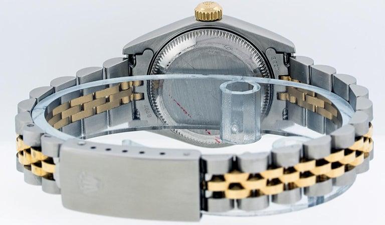 Rolex Women's Datejust Watch Stainless Steel / 18 Karat Gold Silver Diamond Dial For Sale 1
