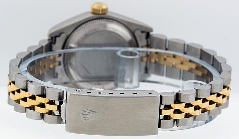 Rolex Women's Datejust Watch Stainless Steel / 18 Karat Gold Silver Diamond Dial For Sale 2