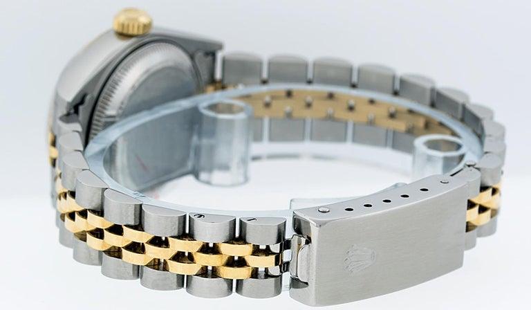 Rolex Women's Datejust Watch Stainless Steel / 18 Karat Gold Silver Diamond Dial For Sale 3