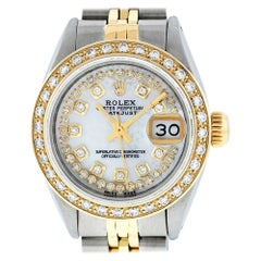 Rolex Women's Datejust Watch Steel / 18 Karat Gold MOP String Diamond Dial