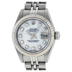 Rolex Women's Datejust Watch Steel / 18K White Gold MOP Diamond Dial