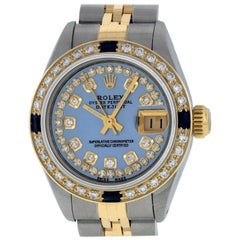 Rolex Women's Datejust Watch Steel / 18K Yellow Gold MOP Diamond Dial Sapphire