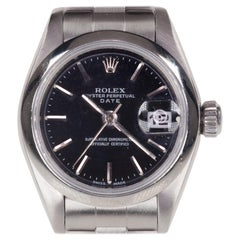 Rolex Women's Stainless Steel OPD Automatic Watch with Black Dial #79160, 1999