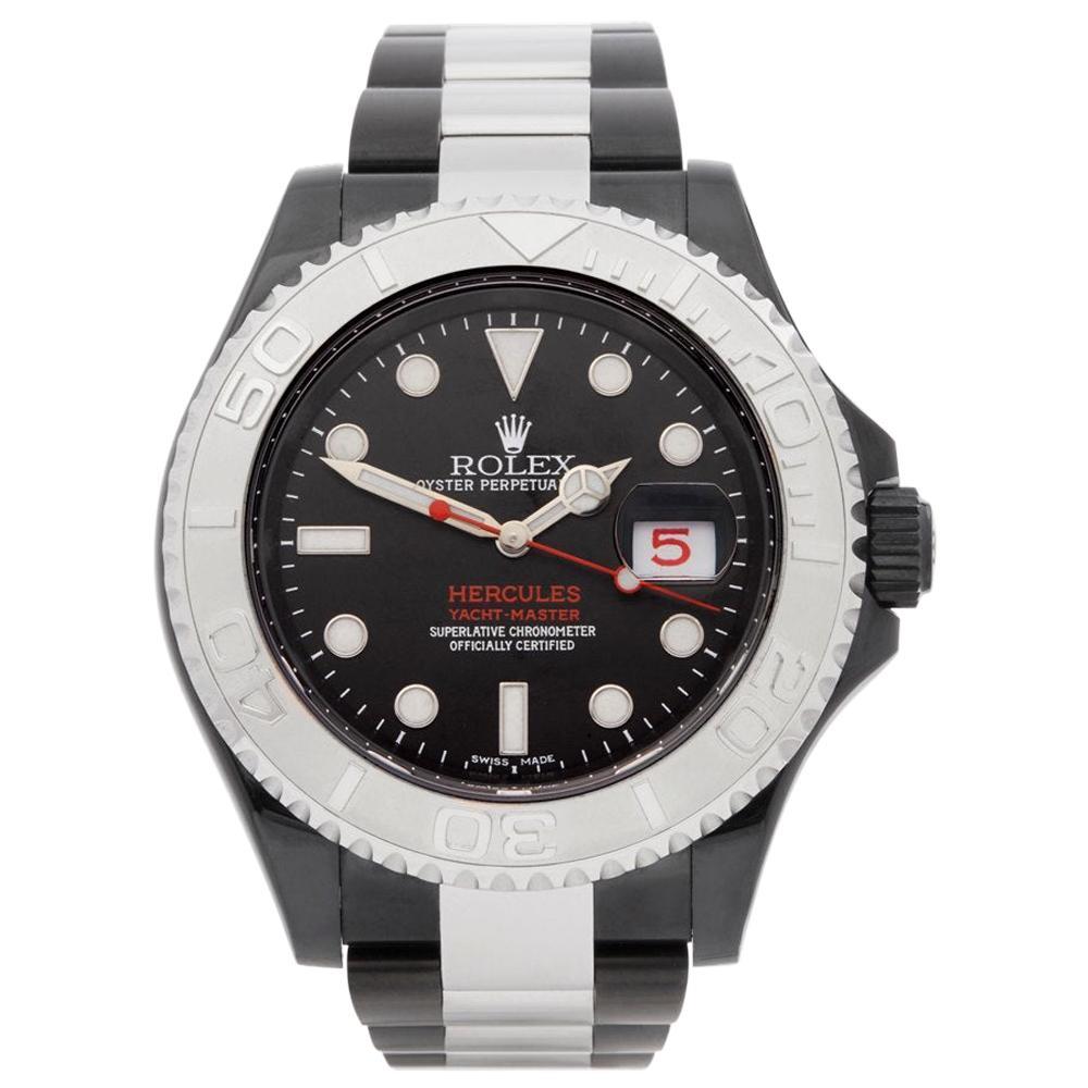 Rolex Yacht-Master 0 116622 Men DLC Coated Stainless Steel Hercules Custom Watch