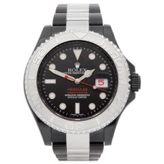 Rolex Yacht-Master 0 116622 Men DLC Coated Stainless Steel Hercules Custom Watch