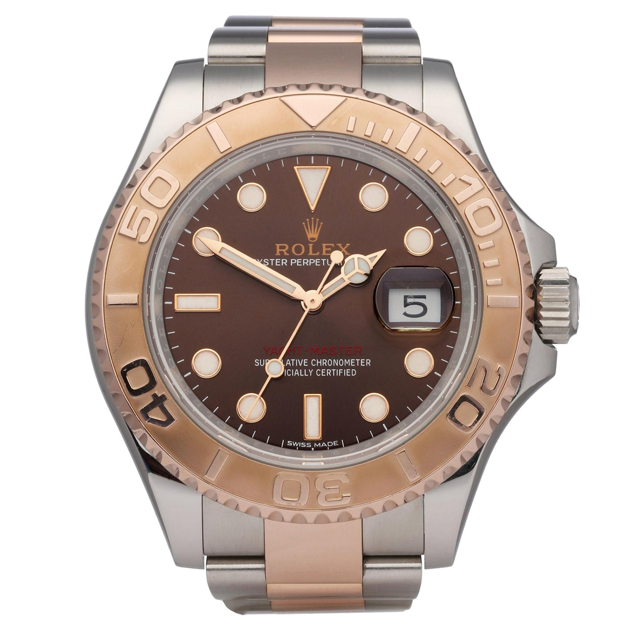 Rolex Yacht-Master 116621 Men Stainless Steel and Rose Gold Watch