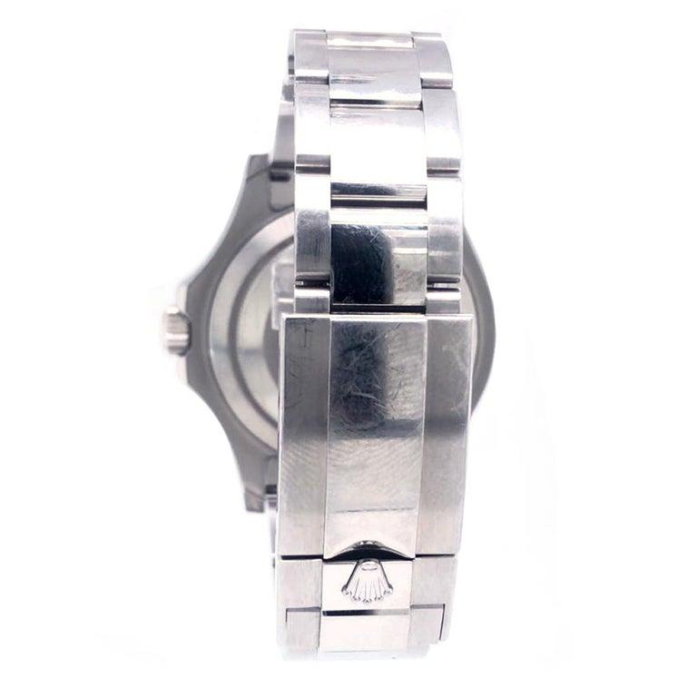 Rolex Yacht-Master 116622 Blue Dial Steel Platinum Bezel Men's Watch Papers Box For Sale 1