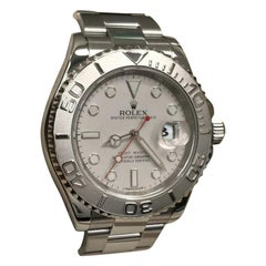 Rolex Yacht Master 116622 Platinum Dial and Bezel and Stainless Steel