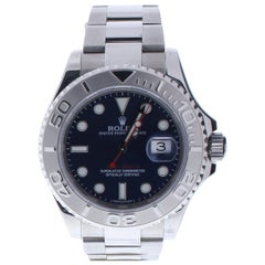 Rolex Yacht-Master 116622 with Band, Platinum Bezel and Blue Dial