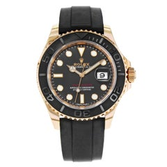 Rolex Yacht-Master 116655 Black Dial 18 Karat Rose Gold Automatic Men's Watch