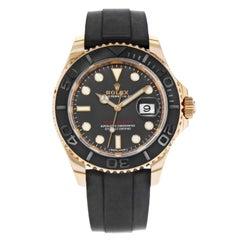 Rolex Yacht-Master 116655 Black Dial 18 Karat Rose Gold Automatic Men's Watch