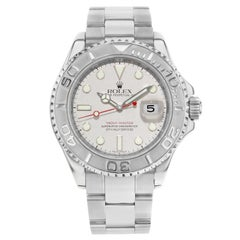 Rolex Yacht-Master 16622 Steel Platinum Grey Dial No Holes Automatic Men's Watch