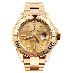Rolex Yacht Master 16628 Champagne Dial 18 Karat Yellow Gold Box Papers