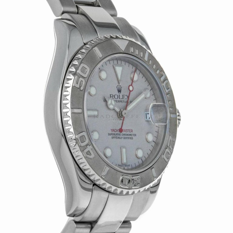 Contemporary Rolex Yacht-Master 168622, Case, Certified and Warranty For Sale