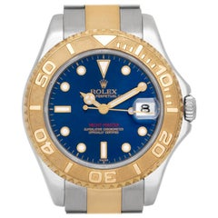 Rolex Yacht-Master 168623, Blue Dial, Certified and Warranty