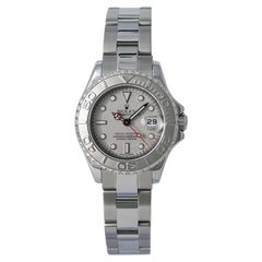 Rolex Yacht-Master 169622 Women's Automatic Watch Platinum Dial and Bezel