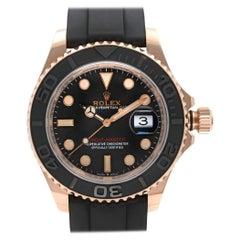 Rolex Yacht-Master 18k Rose Gold Black Dial Automatic Mens Watch 126655