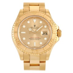 Rolex Yacht Master 18k Yellow Gold Champagne Watch 16628