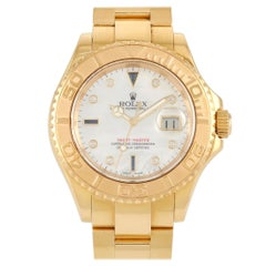 Rolex Yacht Master 18k Yellow Gold Mother of Pearl Sapphire Watch 16628MOP