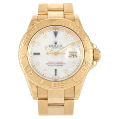 Rolex Yacht Master 18k Yellow Gold Mother of Pearl Sapphire Watch 16628MOPSAP